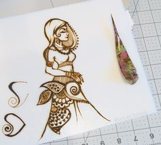 I have a busy day today so I thought I'd post this doodle earlier rather than later. Created this pretty lady with a very old… Henna Tattoo Designs Simple, Basic Mehndi Designs, Stylish Mehndi Designs, Wedding Mehndi Designs, Dulhan Mehndi Designs, Latest Mehndi Designs, Mehendi, Henna Mehndi, Mehndi Book