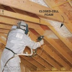 Cathedral Ceiling Insulation Solve moisture and rot problems in insulated cathedral ceilings with closed-cell foam insulation.