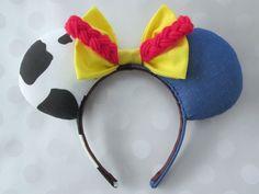 Jessie Cowgirl Inspired Mouse Ears Headband Custom by EarsComeTrue