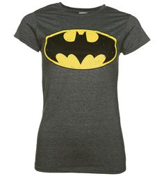 Womens Charcoal Distressed Batman Logo T-Shirt Batman might be the hero that Gotham deserves, not one he needs - but if youre a true Bat-fan, youll definitely be needing this logo tee! With a cool distressed finish on super-soft fabric, its sure t http://www.MightGet.com/february-2017-3/womens-charcoal-distressed-batman-logo-t-shirt.asp