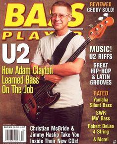 Bass Player Magazine Back Issue - December 2000 – MJGEnterprise Yamaha Silent, Bono U2, Adam Clayton, Papa Roach, Book Illustration, Illustrations, U 2, The Beatles, Rock N Roll