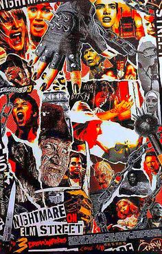 Nightmare on Elm Street 3 cool random poster art repin
