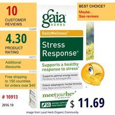 Gaia Herbs #GaiaHerbs #ConditionSpecificFormulas #StressFormulas