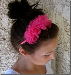 Easy Ruffle Knotted Headband by Six Sister's Stuff