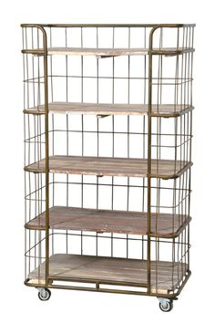 Factory style shelves