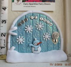 Fairy Door, Christmas, Santa, Elf on the Shelf Door by Fairy Sparkles (CD124)
