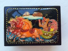 Original Russian Palekh hand painted lacquer box by Viktoriyasshop