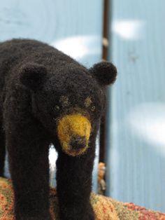 Black Bear Sculpture Custom OOAK by FarmGirlArts on Etsy, $120.00