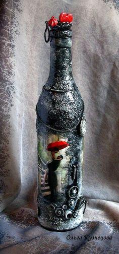 Decoupage. Декупаж, декор бутылок. 2012
