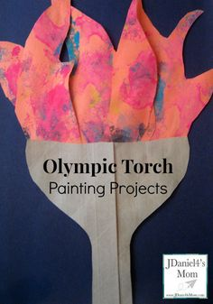 Olympics for Kids: Olympic Torch Painting Projects - Olympic Torch Painting Project Olympic Torch Painting Project Olympic Torch Painting Project Welcom - Classroom Art Projects, Art Classroom, Classroom Themes, Kids Olympics, Summer Olympics, Olympic Crafts, Olympic Games, Crafts For 3 Year Olds, Crafts For Kids