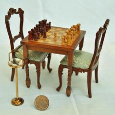 Chess in 1/12 scale minaiture