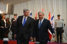 Prime Ministers Binyamin Netanyahu and Stephen Harper.