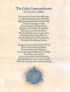 Elaina's Writing World: The Celtic Commandments Celtic Tree, Celtic Dragon, Irish Celtic, Celtic Paganism, Celtic Mythology, Celtic Christianity, Celtic Druids, Celtic Patterns, Celtic Designs