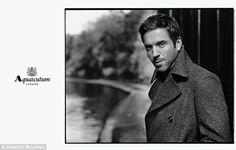 Damian Lewis great coat. Aquascutum.
