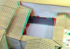 https://flic.kr/p/CV3QBe   Maquette House of Menander Pompeii 3D   RMO Leiden  anaglyph stereo red/cyan