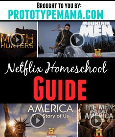 Our Netflix Homeschool guide- packed full of history, science and math related shows to help supplement your child's curriculum.