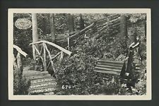 Wisconsin WI real photo postcard RPPC Marl Lake, Whispering Pines Old Mill