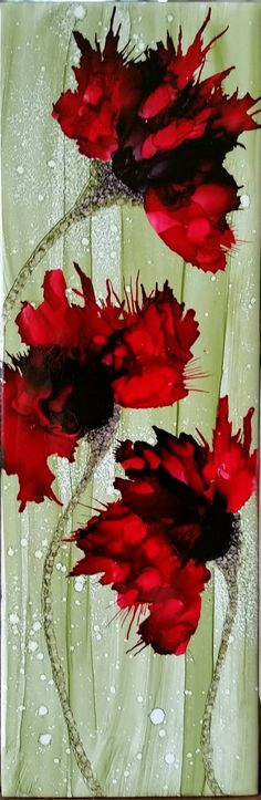 Love the alcohol inks free flow to create is own image. By Tina