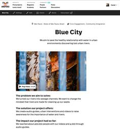 We aim to save the healthy relationship with water in urban environments discovering lost urban rivers. Blue City, Healthy Relationships, Environment, Platform, Urban, City, Blue, Heel, Wedge
