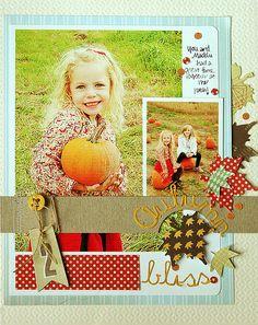 Autumn bliss- Danielle Flanders  Love the leaves