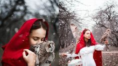 Moscow-based photographer Darya Kondratyeva reinterprets spellbinding tales of enchantment in her beautiful portraits of young women and their animal Merida Cosplay, Real Life Fairies, Red Ridding Hood, Photographer Wanted, Fantasy Photography, Red Photography, Photography Tools, Portrait Photography, Fashion Photography