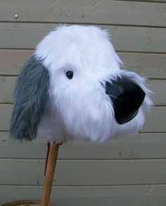 Sheepdog Stick Horse by RusticHorseShoe on Etsy Sewing Kids Clothes, Sewing For Kids, Stick Horses, Year Of The Horse, Hobby Horse, Soft Dolls, Softies, Stuffed Animals, Doll Toys