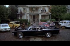 Animal House 1964 Lincoln Continental Deathmobile: Flounder's brother's car in the 1978 classic comedy. Becomes the Deathmobile in the film's climax. Road trip!