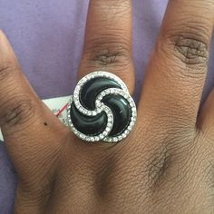 Black and silver ring Black and silver ring NWT SZ 7 Jewelry Rings