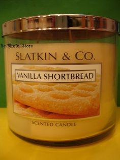 Bath & Body Works Slatkin Vanilla Shortbread Candle Large 3 Wick 65 hours