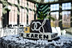 Chanel Inspired Bridal Shower | CatchMyParty.com