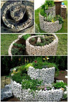 Garden Spiral Garden, Diy Herb Garden, Vegetable Garden, Garden Ideas, Succulents Garden, Planting Flowers, Next Garden, Flower Landscape, Garden Features