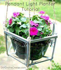 DIY Pendant Light Hanging Planter