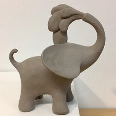 """117 Likes, 8 Comments - Shelly Fredenberg (@shellyfredenbergstudio) on Instagram: """"splash! . . . . . . . #contemporaryceramics #babyelephant #stylized #elephant #ceramic #pottery…"""""""