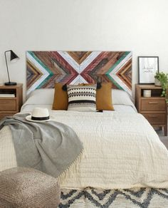 AJ, I would love for you to build us a headboard like this, but not in these colors.