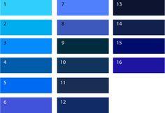 Холодные оттенки синего