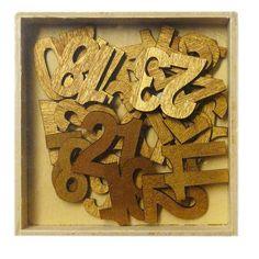#Adventsbasteln, 24 Zahlen für den Adventskalender oder als Tischdekoration, Weihnachtsdeko selbst basteln mit den goldenen Adventskalenderzahlen!
