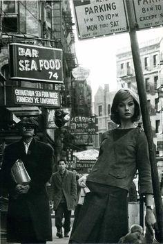 Jean Shrimpton in NYC by David Bailey, 1962.