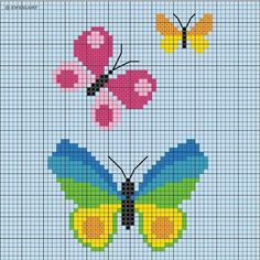 ADVERTISEMENT ADVERTISEMENT Embroider simple spring motifs for children – Discover this motif and numerous other free charts and embroidery patterns for embroidery here. Cactus Cross Stitch, Butterfly Cross Stitch, Simple Cross Stitch, Cross Stitch Baby, Cross Stitch Charts, Cross Stitch Designs, Cross Stitch Patterns, Cross Stitching, Cross Stitch Embroidery