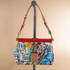 $585 Prada Multi-Color Canvas Shoulder bag via boutiika.com