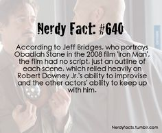 Awesome! This is why RDJ is one of the greatest actors on the big screen