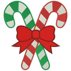Candy Cane Christmas Filled Machine Embroidery Digitized Design Pattern #christmas #embroidery #applique #cane