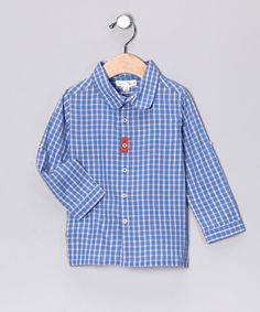 Take a look at this Juice Plaid Button-Up - Infant & Toddler by Pearls & Popcorn on #zulily today!