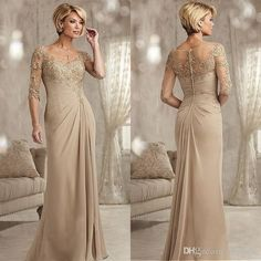 Champagne Mother Of The Groom Dresses Long 2017 Scoop Neck Chiffon Wedding Guest Dress Half Sleeves Formal Evening Gowns Navy Blue Mother Of The Bride Dress Plus Size Mother Of The Bride Dresses Tea Length From Mhydress, $84.42| Dhgate.Com Evening Dresses For Weddings, Mermaid Evening Dresses, Wedding Dresses Plus Size, New Wedding Dresses, Evening Gowns, Wedding Veil, Lace Wedding, Trendy Wedding, Wedding Skirt