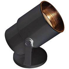 "Black 8"" High Adjustable Uplight with CFL Bulb Light Clips, Black Floor, Can Lights, Tripod Lamp, Home Lighting, Display Lighting, Accent Lighting, Lighting Ideas, Lamp Light"