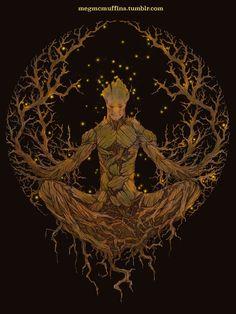 Groot Mandala by megmcmuffins.deviantart.com on @DeviantArt