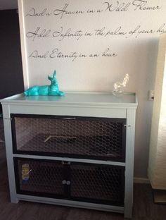 9 DIY Rabbit Hutch Ideas Using Upcycled Furniture