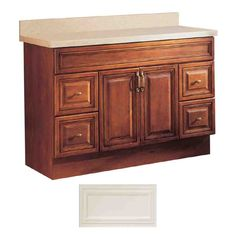 Insignia Ridgefield Medium Oak Traditional Bathroom Vanity (Common: x Actual: x We will likely have to replace the bathroom vanity cabinet, as well, this year. Bathroom Cabinets Lowes, Lowes Bathroom Vanity, Bathroom Vanities, Bathroom Ideas, Bathroom Blinds, Bathroom Laundry, White Traditional Bathrooms, Vanity Design, Bathroom Styling