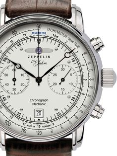 Graf Zeppelin Hand Wind Mechanical Chronograph Watch with Exhibition back #7608-1 | Raddest Men's Fashion Looks On The Internet: http://www.raddestlooks.org