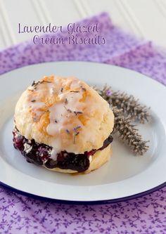 lavender glazed cream biscuits