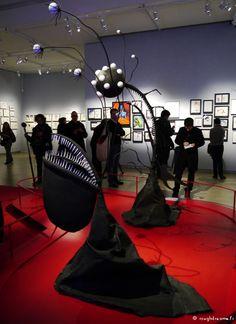 Tim Burton exhibition at la Cinémathèque, Paris.